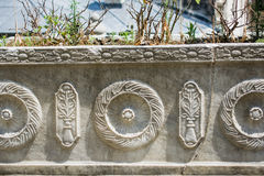 Example of Ottoman art patterns applied on stone Stock Photography