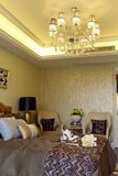 Example room apartment in the master bedroom decorate Royalty Free Stock Images