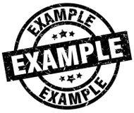 Example stamp Stock Photo