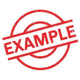 Example rubber stamp Royalty Free Stock Image