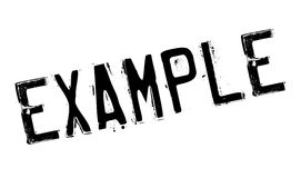 Example rubber stamp Stock Photo