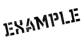 Example rubber stamp Stock Photos