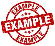 Example stamp Royalty Free Stock Photos
