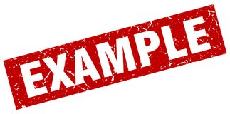 Example stamp Royalty Free Stock Images