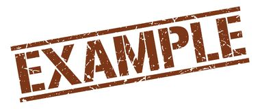 Example stamp Stock Images