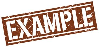 Example stamp Royalty Free Stock Image