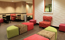 Example of ultra-modern design in sitting area, Holiday Inn, Waterloo, New York,2015 Royalty Free Stock Photos