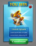 Example of a user interface for a computer game treasure hunt. Royalty Free Stock Images