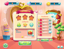 Example of user interface screens beginning of a new level of computer games.  Royalty Free Stock Photos