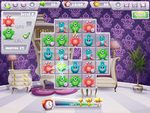 Example of the window of the playing field and the interface computer game monsters and Web Design Royalty Free Stock Images