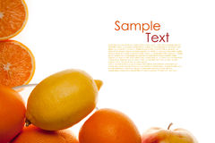 An example witch an orange Royalty Free Stock Image