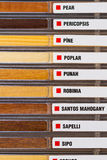 Example of wood textures Stock Photos