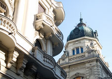 Examples of beautiful and artistic classical city palaces, Belgrade Stock Photo