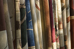 Examples of carpets for your home. Colorful carpet texture examples for your home ideal for your folder or brochoure stock image
