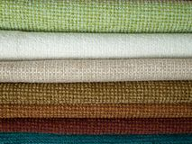 Examples of colored cotton Stock Photo