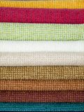 Examples of colored cotton Stock Photos