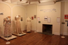 Examples of fashion on display, Brick Store Museum,Kennebunk,Maine,2016 Stock Photo
