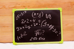 Examples school written on a chalkboard, Royalty Free Stock Photo