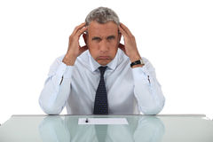 Exasperated businessman. Isn't having a good month royalty free stock images