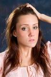 exasperated kvinna Arkivbilder