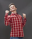 Exasperation concept for male teenager expressing rebellion Royalty Free Stock Image