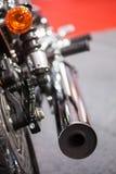 exaustão da motocicleta Fotografia de Stock