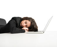 Exaustão do excesso de trabalho Imagem de Stock