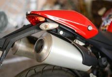 Exaustão gêmea da motocicleta Foto de Stock Royalty Free