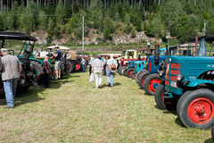 Exbition of old agricultural machinery Stock Photos