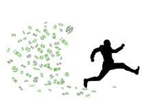 Excédent d'argent Photographie stock