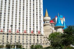 Excalibur旅馆&赌博娱乐场在拉斯维加斯 库存照片
