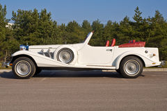 Excalibur cabriolet. Side view of a rare collectors car called excalibur Royalty Free Stock Photography