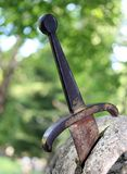 Excalibur the famous sword in the stone Stock Photography