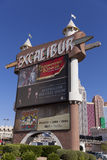 Excalibur front marqueel in Las Vegas, NV on April 19, 2013 Stock Photography