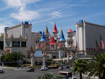 Excalibur Hotel and Casino, Las Vegas, Royalty Free Stock Photos