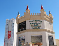 The Excalibur Hotel and Casino in Las Vegas Stock Images