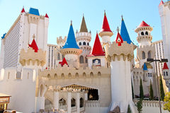 The Excalibur Hotel and Casino in Las Vegas Stock Photos