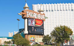 The Excalibur Hotel and Casino in Las Vegas Stock Photos