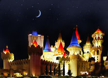 Excalibur Hotel Night View, Las Vegas Royalty Free Stock Photo
