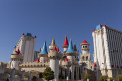 Excalibur hotel at sunrise in Las Vegas, NV on April 19, 2013 Stock Images