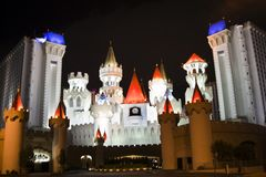 Excalibur Hotel und Kasino Stockbild