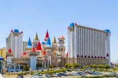 Excalibur hotell och kasino i Las Vegas, Nevada Fotografering för Bildbyråer