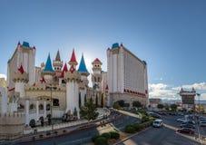 Excalibur hotell och kasino - Las Vegas, Nevada, USA arkivfoto