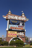 Excalibur marquee at sunrise in Las Vegas, NV on April 19, 2013 Royalty Free Stock Images