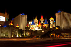 Excalibur by night Stock Photo