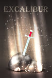 Excalibur sword in the stone Stock Images