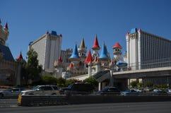 Excaliburhotel en Casino, Excalibur-Hotel en Casino, Las Vegas, Excalibur-Hotel en Casino, oriëntatiepunt, stad, stedelijk mensel stock afbeelding