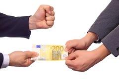Excanging Geld Lizenzfreie Stockfotografie