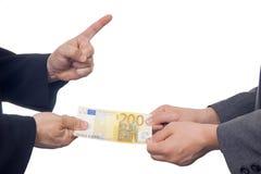 Excanging pieniądze Zdjęcie Royalty Free