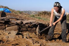 Excavación arqueológica. Asturias Imagen de archivo libre de regalías